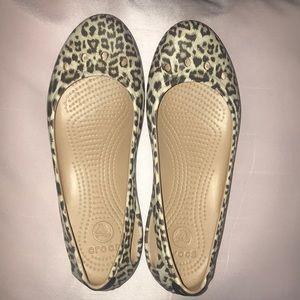 Leopard Print Flats (Crocs)